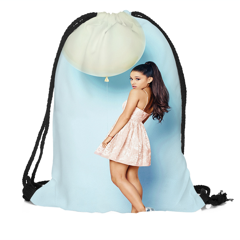 Ariana Grande Printing Drawstring Backpack Travel Beach School Bags Large Capacity Customize your imagesAriana Grande Printing Drawstring Backpack Travel Beach School Bags Large Capacity Customize your images
