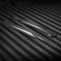 Carbon Fiber Headlight Cover Eyebrows Eyelid Trim Sticker For Audi A4 B6 2002 05