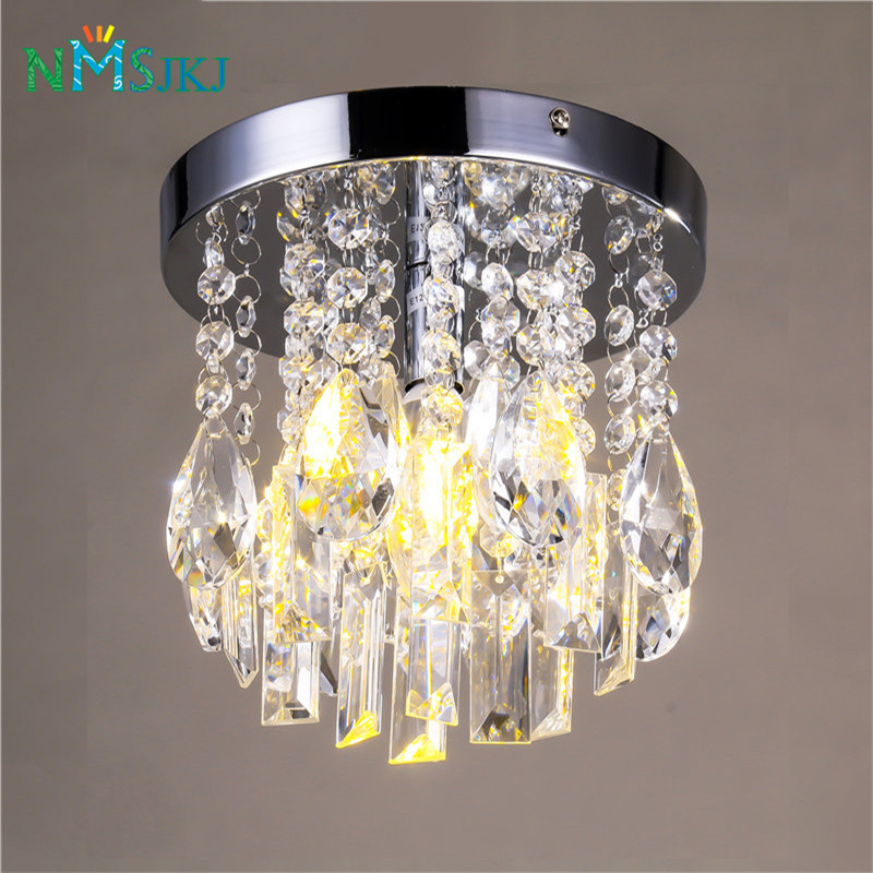 Contemporary Crystal Chandeliers Chrome Ceiling Lamp Fixture for Kitchen Girls Rooms Bed ...