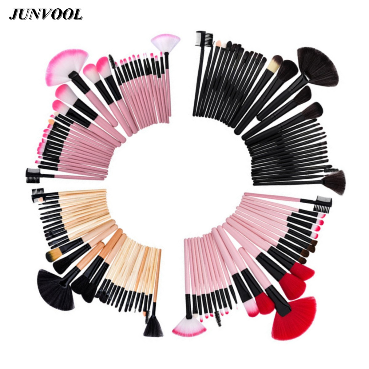Pink Cosmetic Fan Brush Soft Synthetic Hair Make Up Tools Kit Cosmetics Makeup Brushes Black Sets Ccessories Beauty Essentials 24 pcs soft synthetic hair make up tools kit cosmetic beauty makeup brush sets foundation brushes with pink love heart case