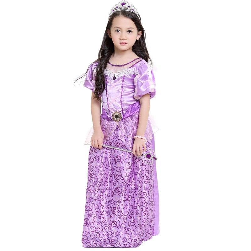 Fancy Kids Baby Girls Dress Purple Fairy Tales The First Princess Dress Costumes Cosplay Dress