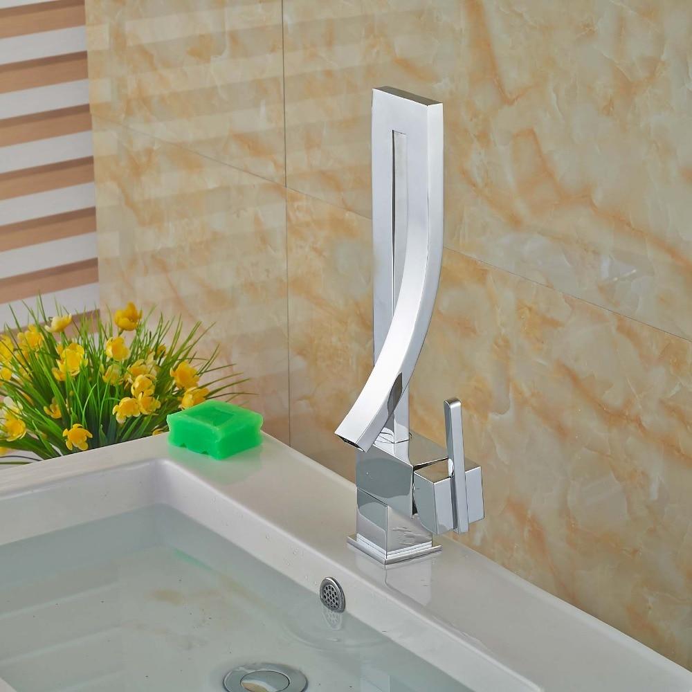 7 Faucet Finishes For Fabulous Bathrooms: Creative Chrome Finish Bathroom Basin Faucet Single Handle