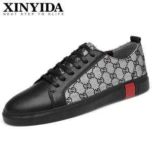 on sale 5413f 011a4 XINYIDA Italian Designer Leather Casual Shoes Men Sneakers