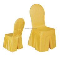 gold polyester jacquard chair cover for banquet chairs hotel chairs wedding chairs