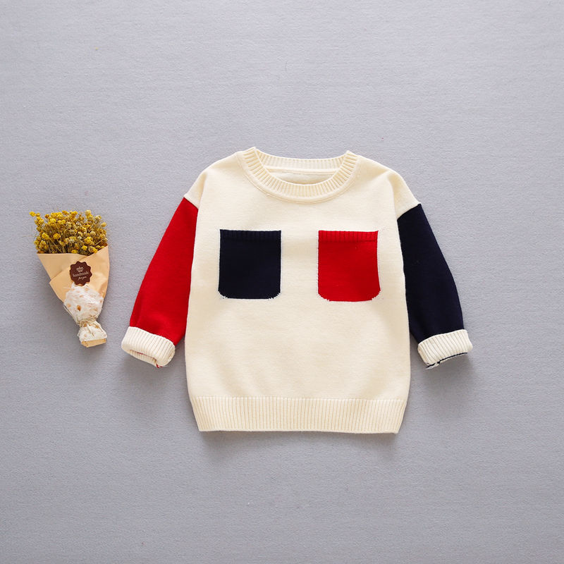 New-Autumn-Girls-Boys-Kids-Baby-Infants-Long-Sleeve-Block-Color-Outwear-Pullover-Knitwear-Kintting-Sweater-Camisola-Tops-MT1277-4