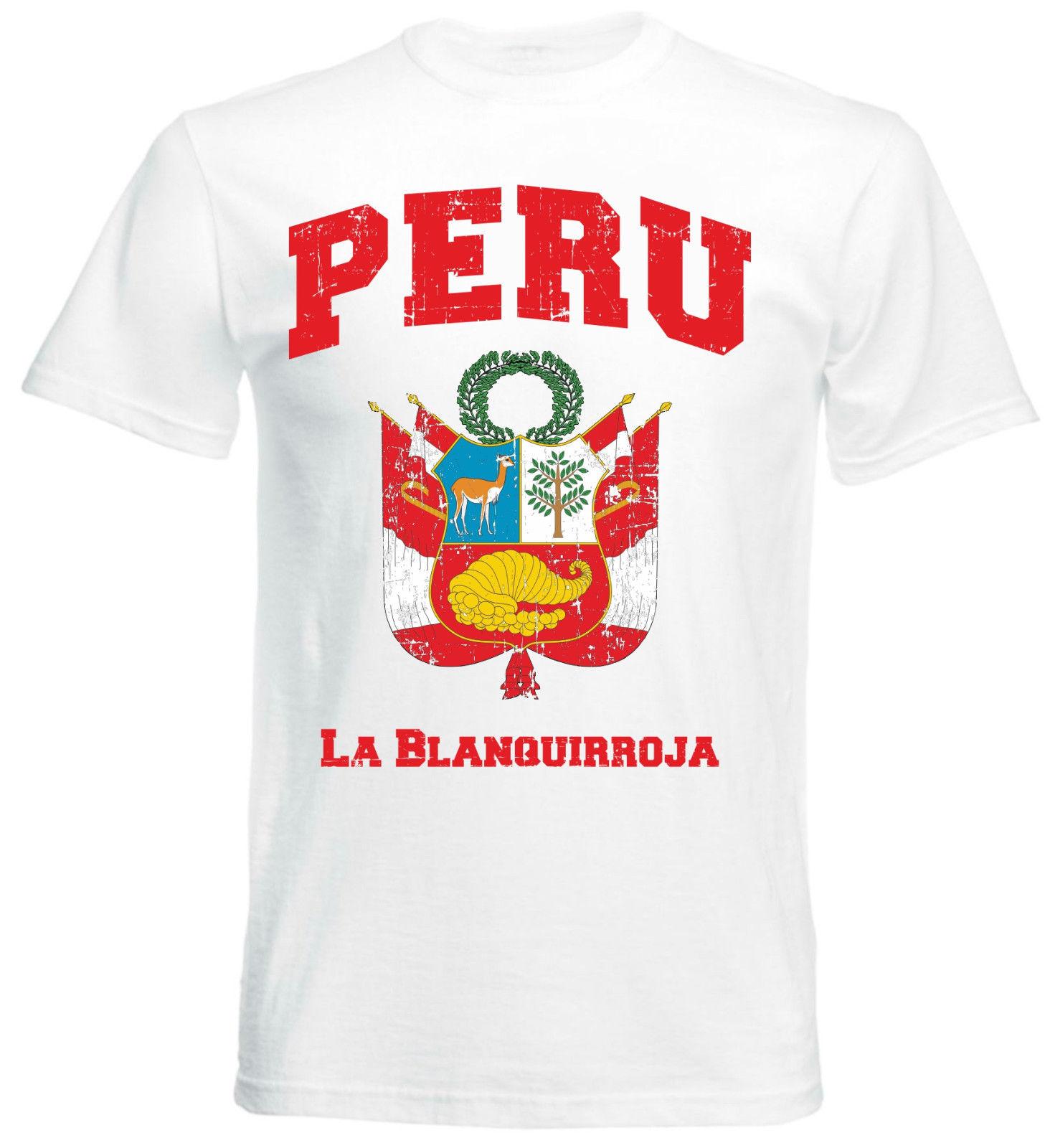 >T-Shirt <font><b>Peru</b></font> White Futbol Footballer Soccers <font><b>2018</b></font> La Blanguirroja Lima Newest 2019 Men'S Fashion Hipster Summer Funny Cotton Tee