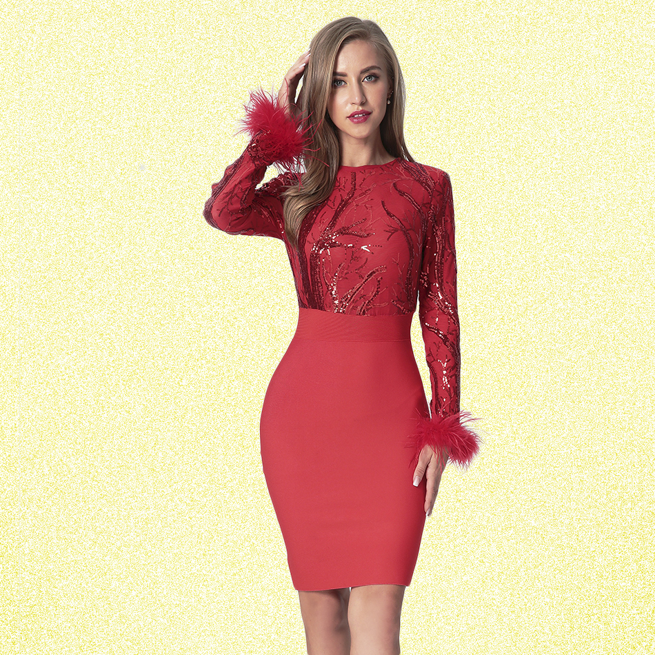 Spring Dress Long Sleeve Club 2019 Autumn Fashion Vestidos Women Clothes Bodycon Above Knee O neck