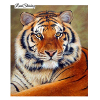 Wholesale DIY Tiger Diamond Painting Unique Gift Paintings Wall Home Decoration Full Rhinestone Set For Embroidery