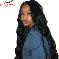 Sophie's Brazilian Body Wave Lace Front Wigs Pre Plucked With Baby Hair Remy Lace Front Human Hair Wigs For Black Women