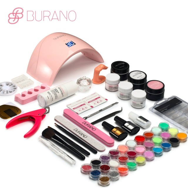 Burano new arrive acrylic nail art set UV/LED nail lamp Dryer ...