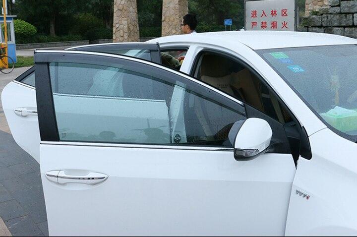 Pour Toyota Prius 2012-2015 ABS fenêtre en plastique déflecteur de Vent visière pluie/pare-soleil Vent - 2