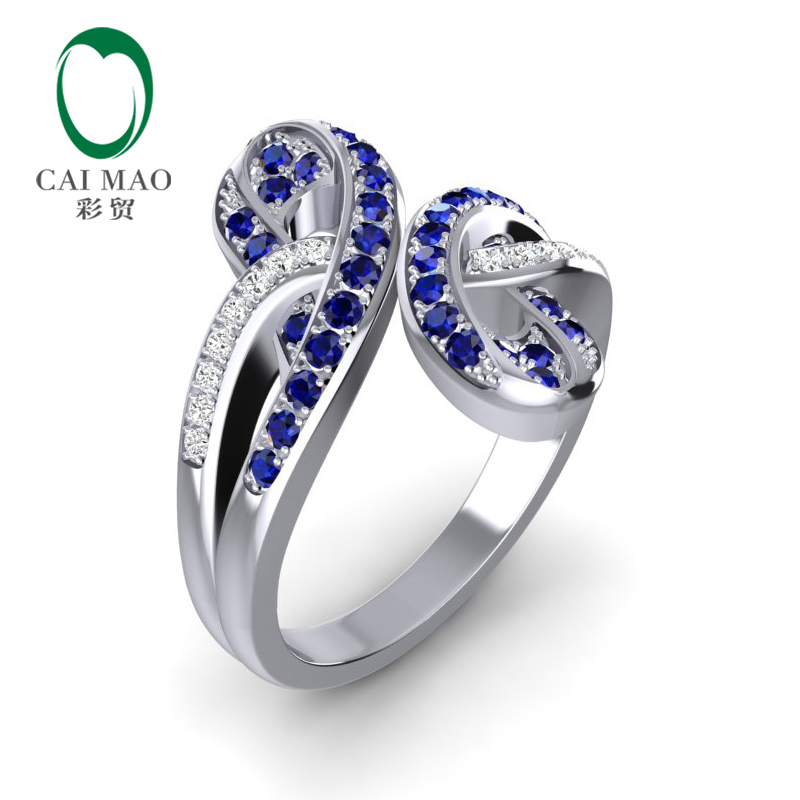 Caimao Jewelry Ring Blue Sapphire