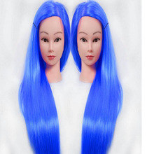 New hairdressing dolls head with blue hair Female Mannequin Hairdressing Styling Training Head Nice high quality