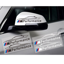 Styling M Performance Rear View Mirror Sticker Reflective M Logo Stickers for BMW E46 E39 E60