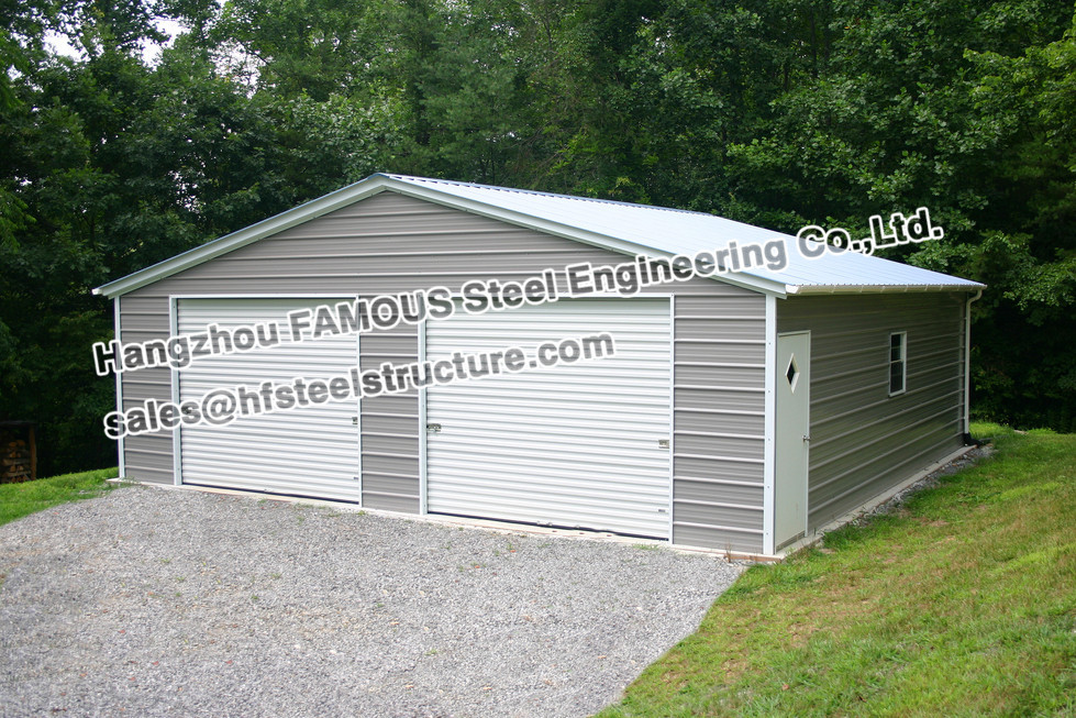 Prefabricated Steel Structure Garage For Cars Parking