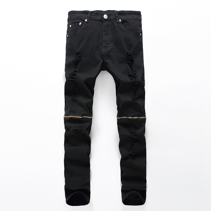 2016 Jeans Men Pants Hole Zipper Trousers Denim Boost Biker Balmai Man Masculina Ripped Pant Knee Skinny Destroyed fear of gods ноутбук dell latitude 5580 15 6 intel core i5 7200u 2 5ггц 8гб 256гб ssd intel hd graphics 620 windows 10 professional 5580 9200 черный