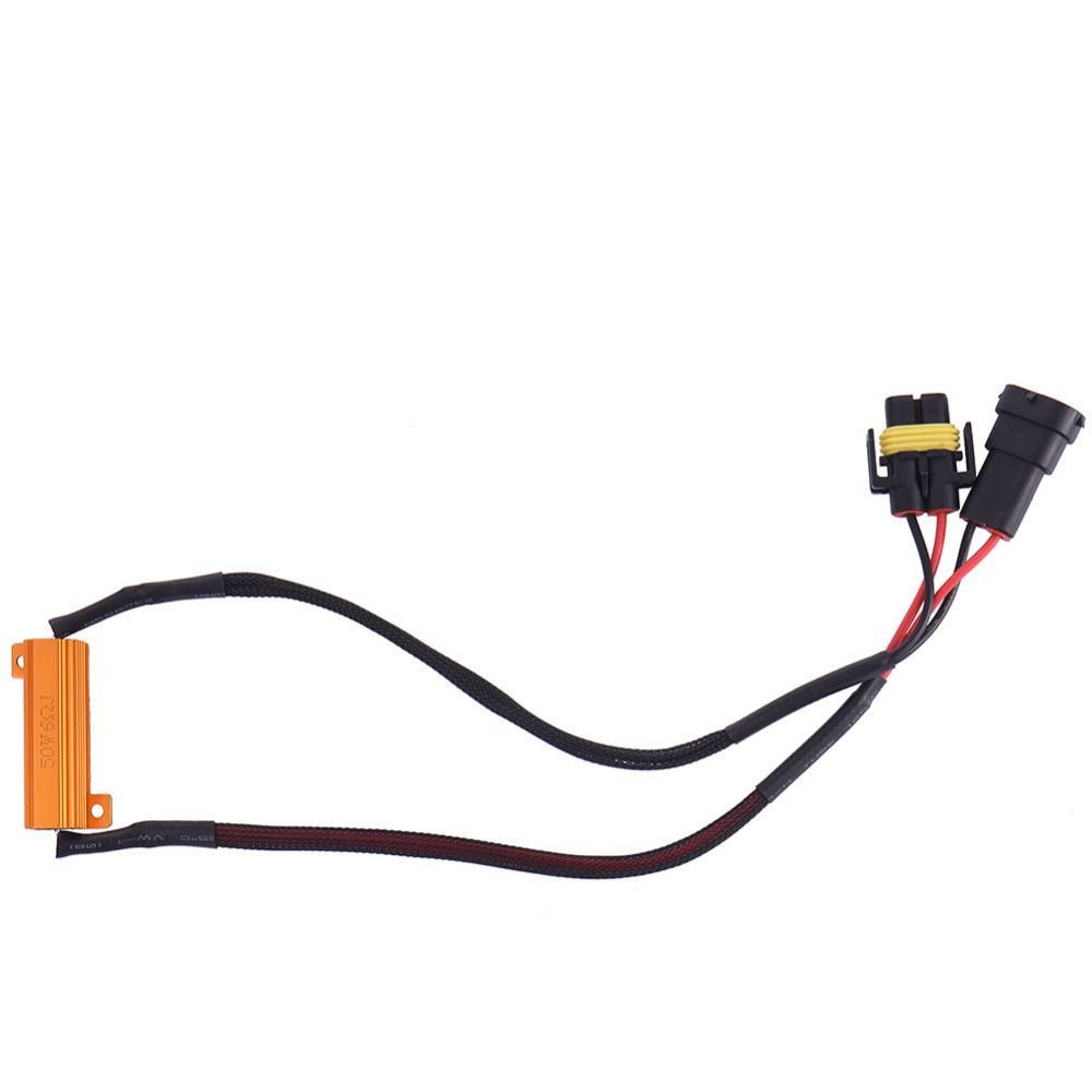 2Pcs H11 50W Car LED Rearlight Bulb Load Resistor Auto Lamp  Wiring Canceller Decoder Canbus Error Free