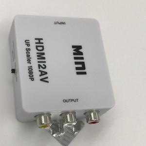 Image 2 - HDMI AV Converter hdmi auf cinch RCA CVBS L/R Weibliche auf Buchse Adapter Unterstützung NTSC PAL für DVD HDTV 480 p 1080 p