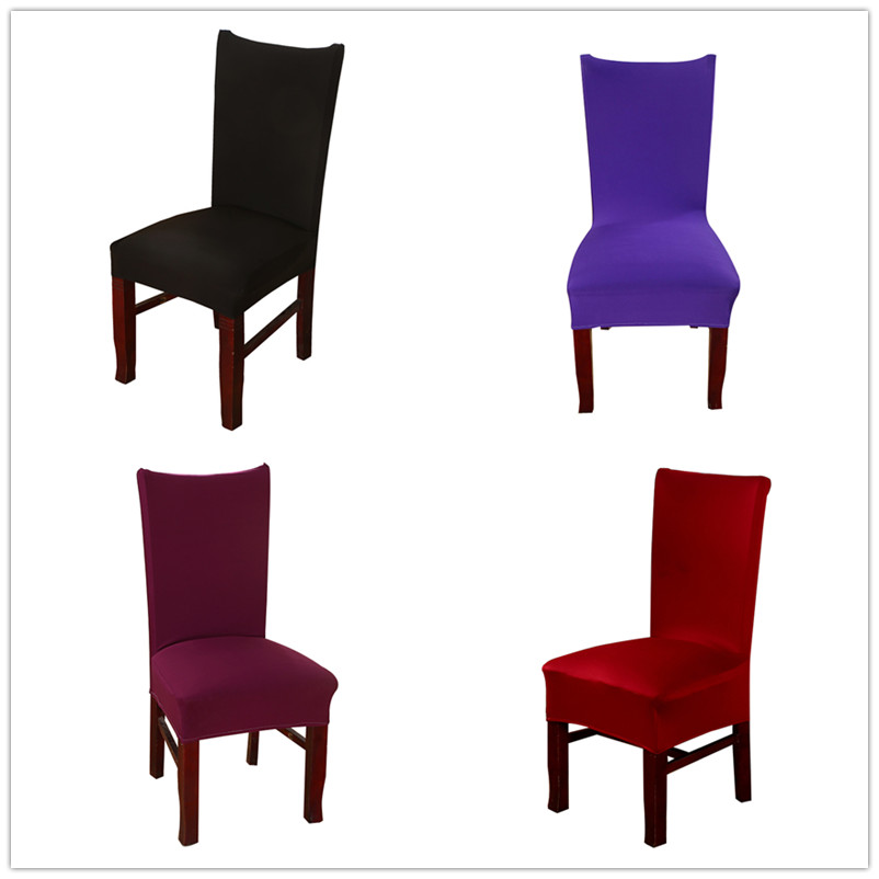 Plain Color Stretch Home Hotel Restaurant Dining Chair Set Custom Chair Cover