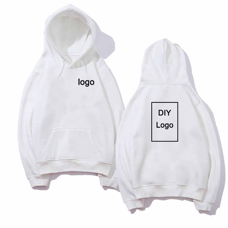 Moletom com impressão de logotipo diy, moletom para homens e mulheres, de algodão e manga longa, roupas de rua unissex