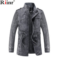 Riinr 2018 New Winter Muaone PU Faux Leather Men Jackets Thicken Retro Style Slim Fit Design Casual Outwear Brand Jackets Male