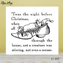 Christmas Mouse Transparent Clear Stamp/Seal for DIY Scrapbooking/Photo Album Decorative Card Making Clear Stamps hot sales high quality led lighted children casual shoes classic cool solid boys girls toddlers tennis fashion kids sneakers
