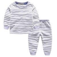 Hot Baby Girls Boys Star Moon Stripe Winter Clothing Set Shirt Pants Suit Children Underwear Kids