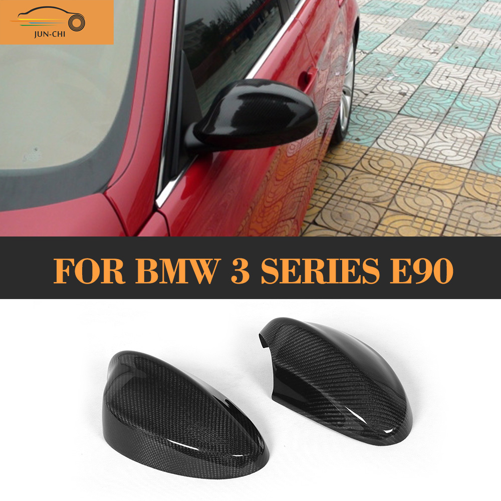 Carbon Fiber Side Rear view Mirror Covers Caps for BMW 3