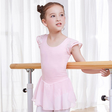 girls ballet dress cap sleeve ballerina chiffon dance skirt kids leotard girl