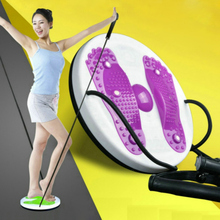 Twister Plate Twist Board Magnet Talje Wriggled Wriggling Plate Twisting Disk Med Cord Fitness Equipment Talje Arm Øvelse