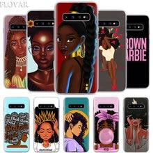 Меланина попсовое чехол для телефона для samsung Galaxy S10e S10 плюс S7 S8 S9 Plus, Note 8, 9, 10, плюс S10 Примечание 10 5G жесткий чехол Coque