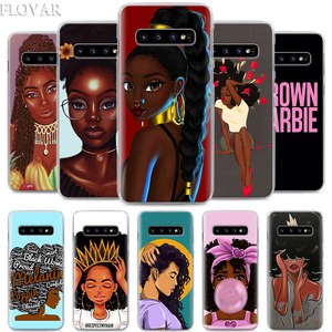 MELANIN POPPIN Phone Case for Samsung Galaxy S10e S10 S20 Plus S7 S8 S9 Plus Note 8 9 10 Plus S10 Note 10 5G Hard Case Coque(China)