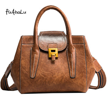 FuAHaLu   Women's new large-capacity handbag wide shoulder strap Messenger bag fashion retro wings shoulder bag