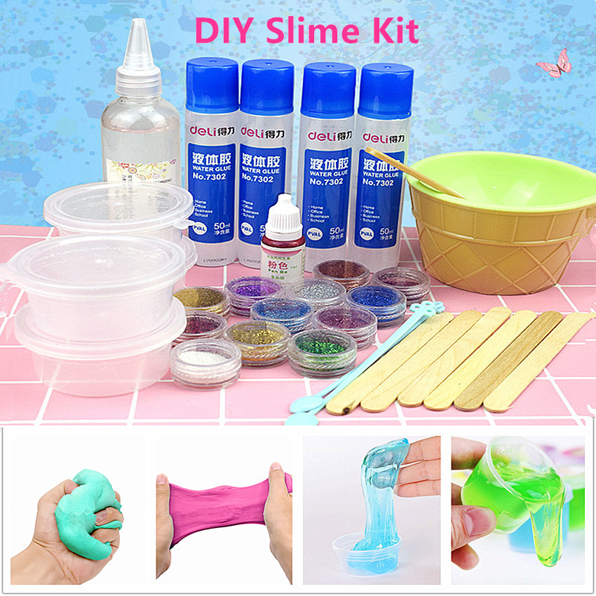 1PC DIY Make Slime Playdough Crystal Mud Making Kit Baby Gifts Polymer Clay Children Educational Clay Toy Slime Toys playdough clay dough ice cream mould play kit educational play doh plasticine diy toy