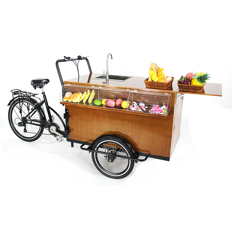 New Design Coffee Bike Fast Food Vending Bicycle Hot Dog Mobile Food