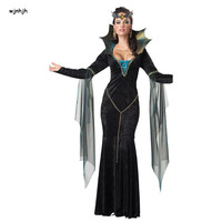 Adult British Queen Costumes Extravagant Maxi Medieval Dress Kigurumi Queen Cosplay Female Halloween Costumes For Women