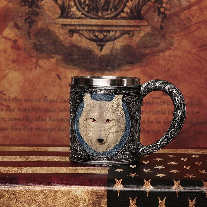 3D Нержавеющаясталь череп кружка скелет шлем волк смерть Дизайн домашний бар вечерние чашей подарок на Хэллоуин