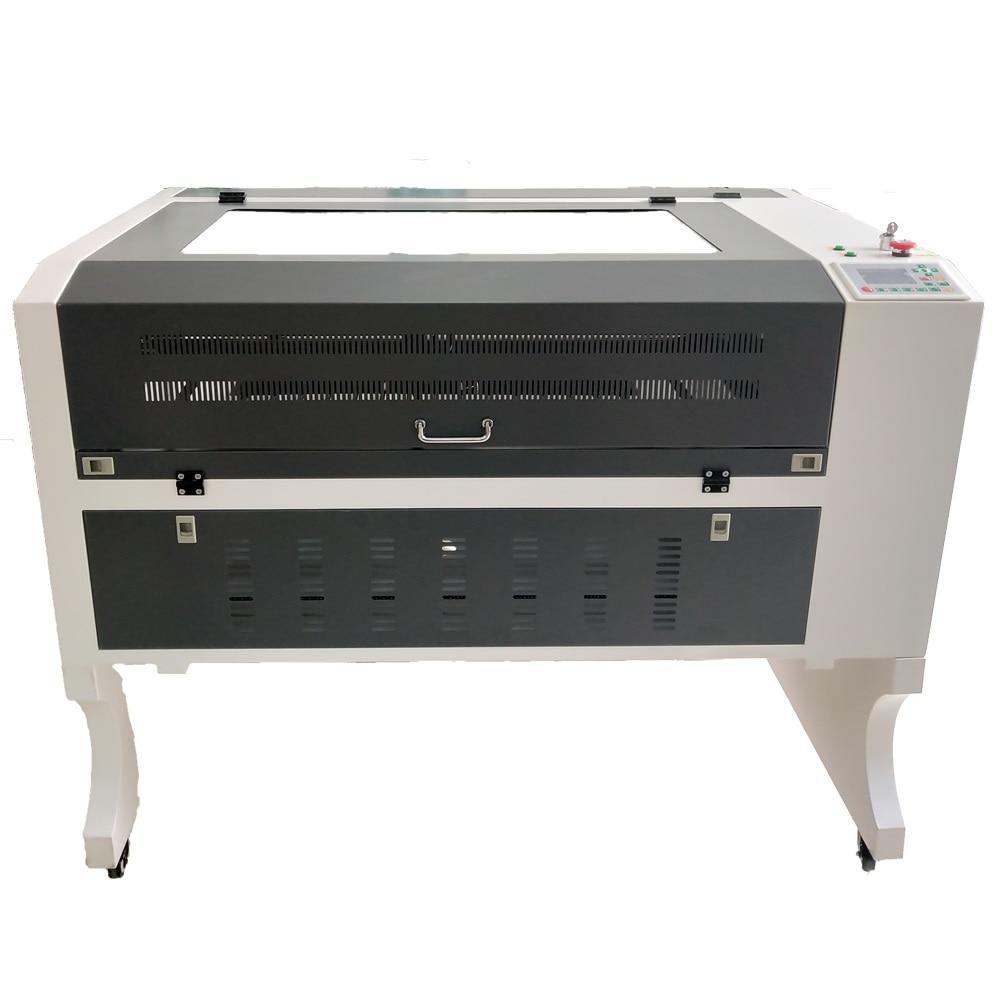 Graveur Laser 9060 100w système ruida axe XY carré linéaire gravure laser 6090 passer par de longs matériaux co2 découpe laser