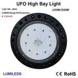 100 Watt LED High Bay UFO Lichter-13,500 Lumen-Ultra Effiziente 130 Lumen zu Watt-Kleiner und mehr effiziente-Lager LE