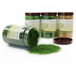 Image 5 - 4 병 35g 12mm 정적 잔디 분말 혼합 된 색상 잔디 매트에 대 한 녹색 잔디 분말 무리 모델 철도 레이아웃 cfa4