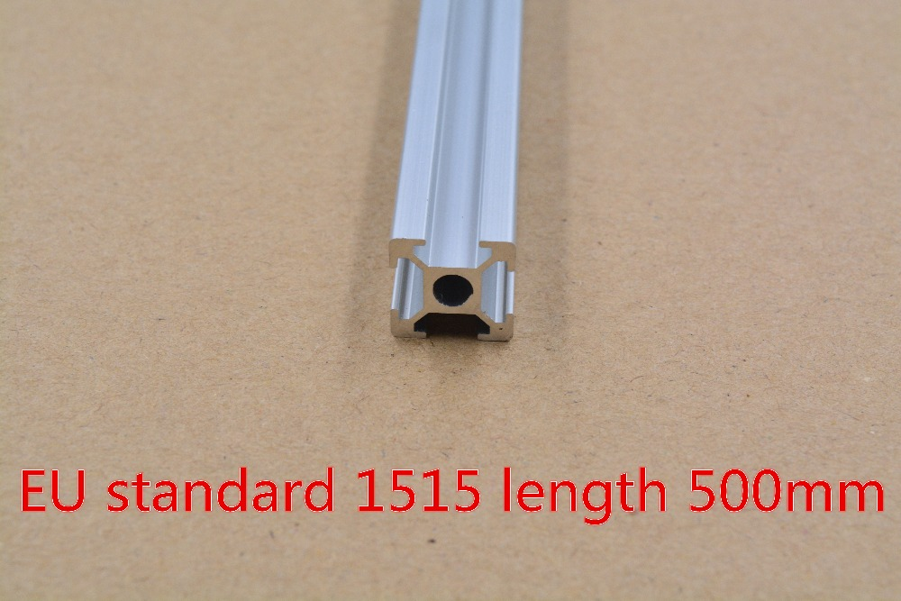 1515 Aluminum Extrusion Profile European Standard White Length 500mm Industrial Aluminum Profile Workbench 1pcs