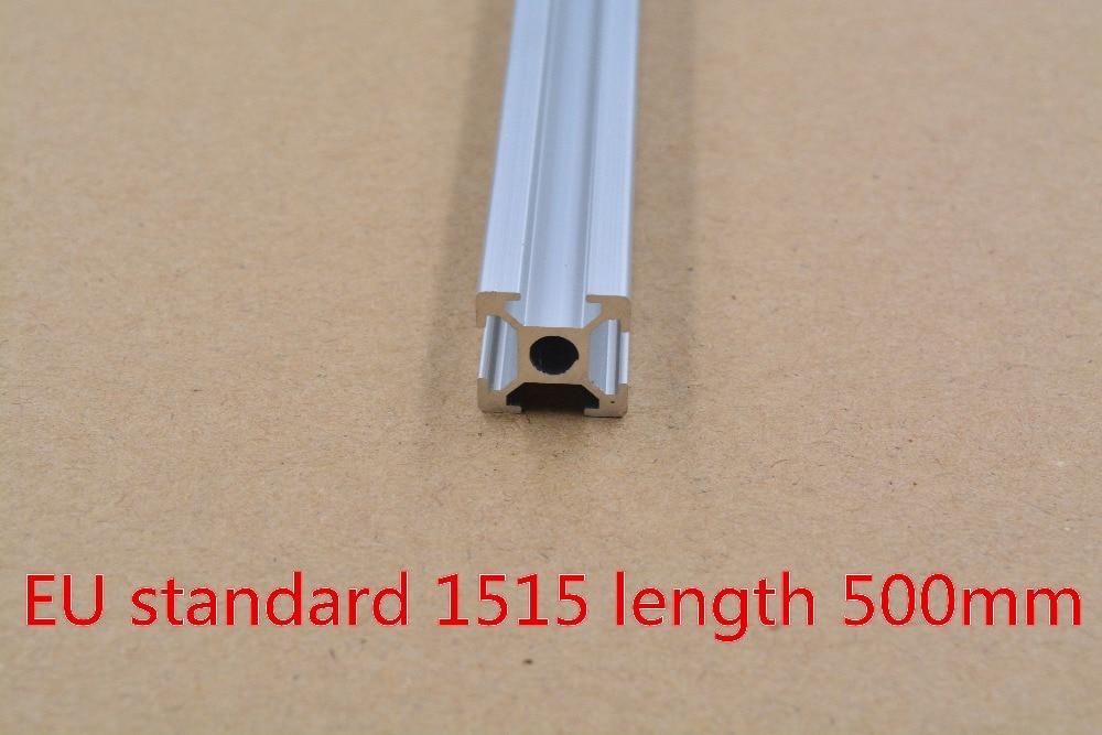 1515 Aluminum Extrusion Profile European Standard White Length 500mm Industrial Aluminum Profile Workbench 1pcs