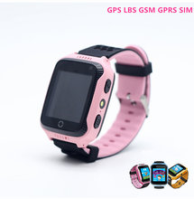 Girls Boy Flashlight Camera Smartwatch SIM GPS LBS GSM GPRS Graffiti Clock Ring Call Pedometer Smart Watches Kids Bracelet Wrist(China)