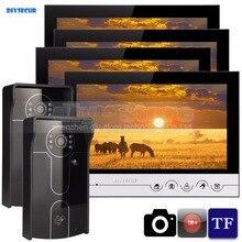 DIYSECUR 9inch Video Record/Photograph Video Door Phone Doorbell Waterproof HD RFID Camera Home Security Intercom System 2V4