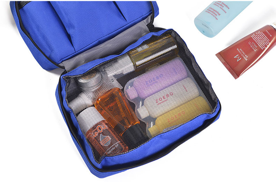 Hanging Travel Cosmetic Bag Women Zipper Make Up Bags Polyester High Capacity Makeup Case handbag Organizer Storage Wash Bag     (10)