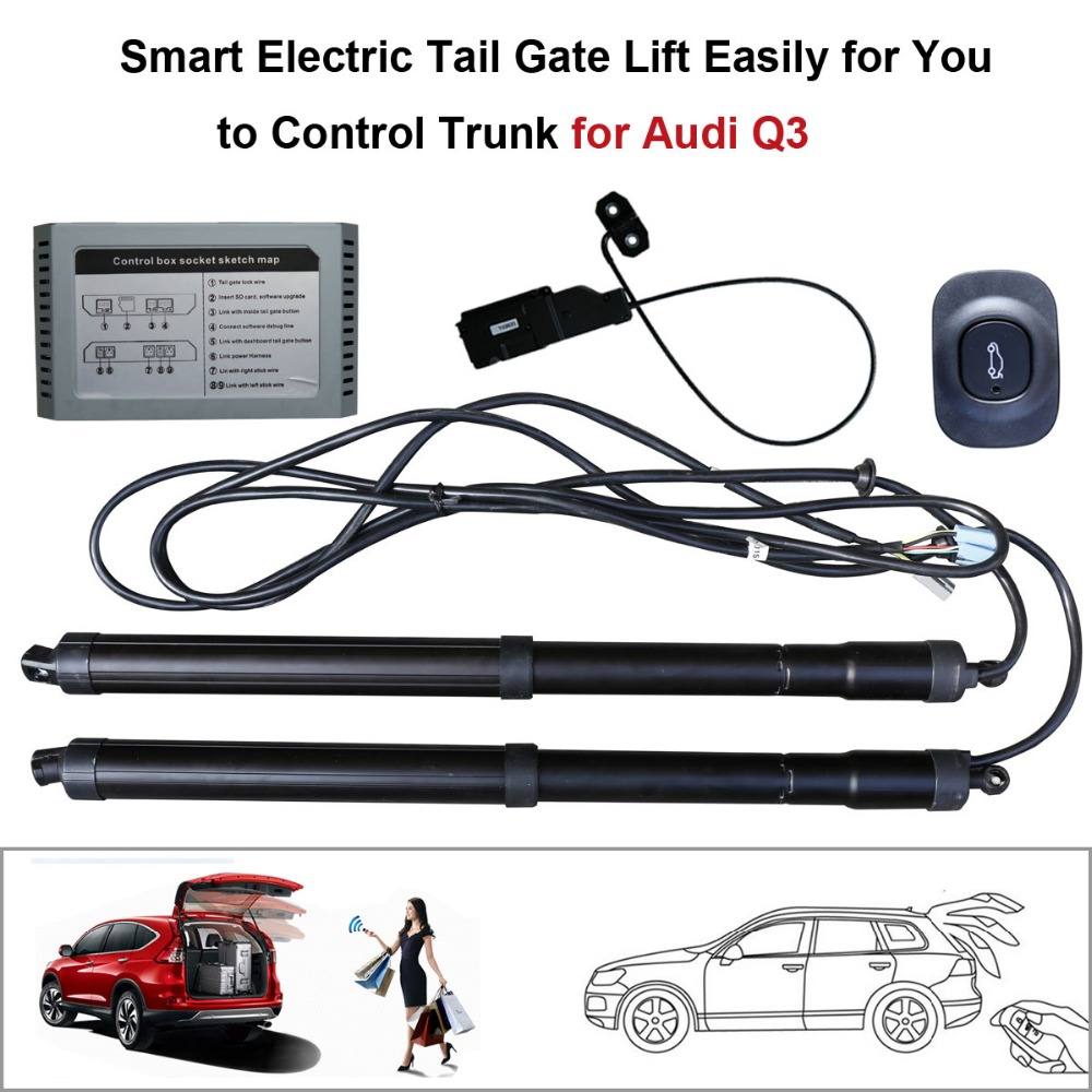 Smart Auto Electric Tail Gate Lift for Audi Q3 Remote Control Set Height Avoid Pinch With Latch