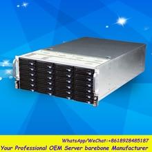 Стабильный огромный хранения 24 отсеков 4u hotswap стойки NVR NAS сервера шасси S45504