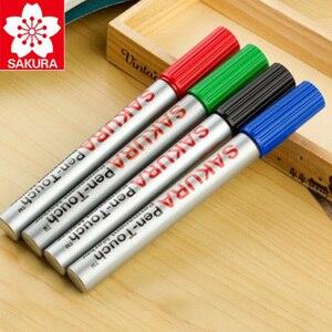 Image 3 - 8 Pcs Sakura Wasserdichte Zeichen Universal Permanent Öl Basis Marker Stift Kopf Farbe Lauffläche Haken Linie Durable Sicherheit Japan