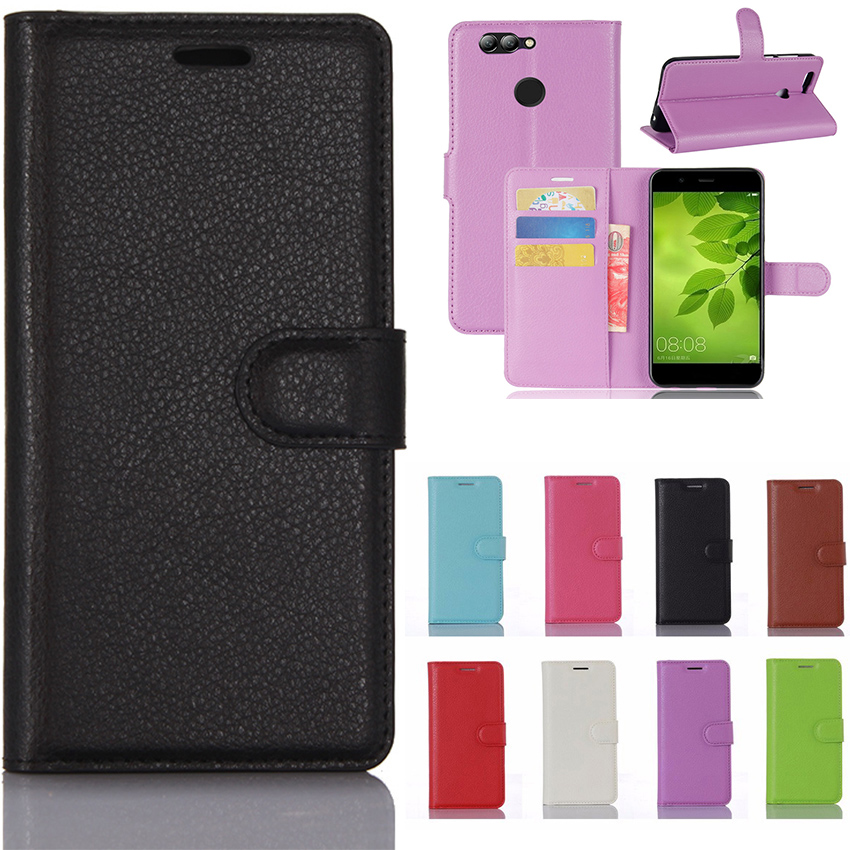 "For Huawei Nova 2 Case Huawei PIC-LX9 Case 5.0 "" PU Leather Phone Case For Huawei Nova 2 Case Protective Back Cover Coque fundas"
