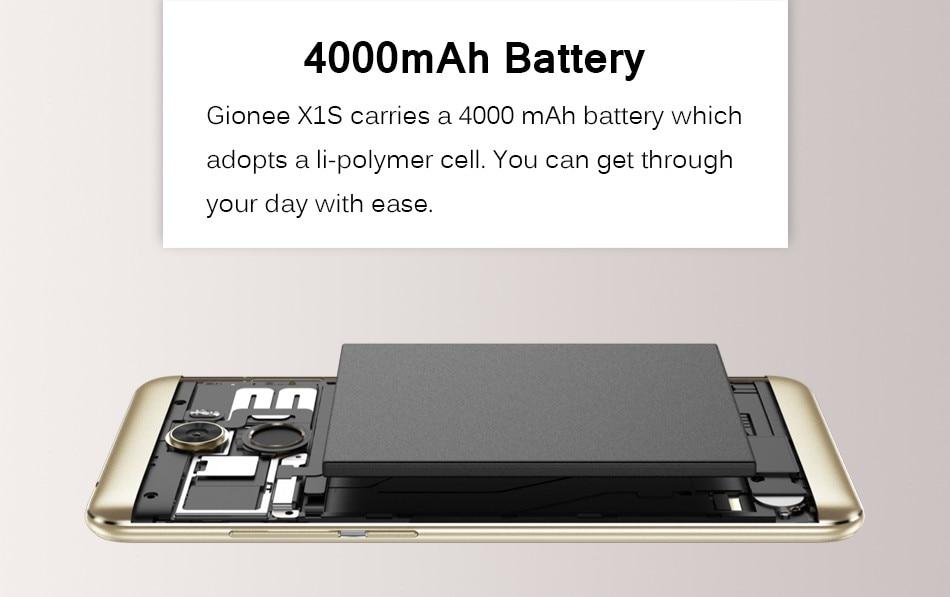 HTB1RQQAkeOSBuNjy0Fdq6zDnVXay Gionee Gionee X1S 5.2HD Mobile Phone MTK6737T 1.5GHz Quad Core 3G RAM+32G ROM 4000mAh 16MP+13MP Dual Cameras Android 7.0 Dual Sim Smartphone  Black